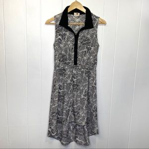 One Clothing high-low dress black white animal